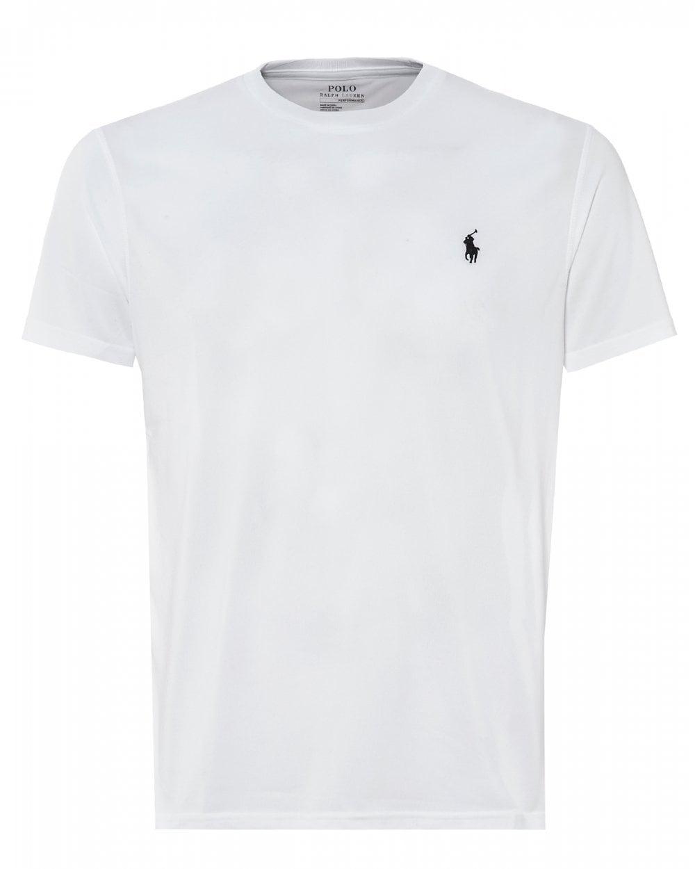 f85eb9ff4 Ralph Lauren Mens Polo Player T-Shirt, White Slim Fit Tee
