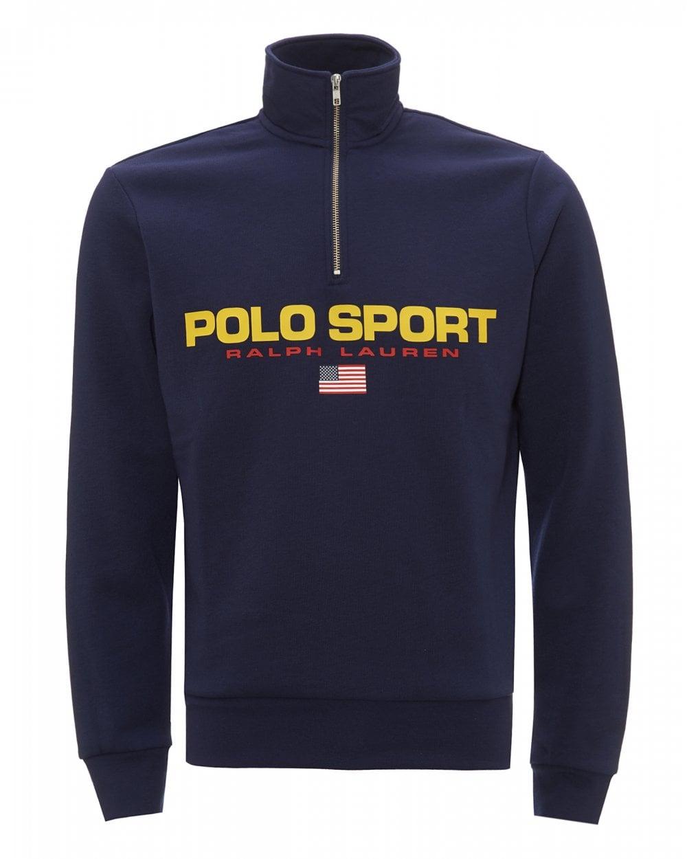 Mens Polo Sport Fleece Sweatshirt, Cruise Navy Sweat