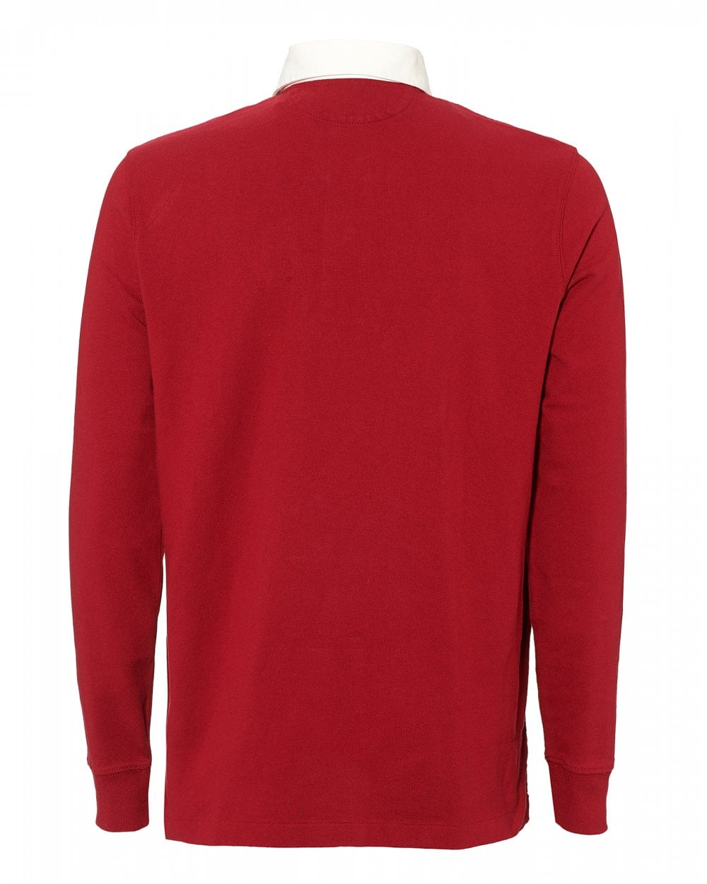 Mens Eaton Rugby Jersey Red ShirtCotton Polo nOk80XwP