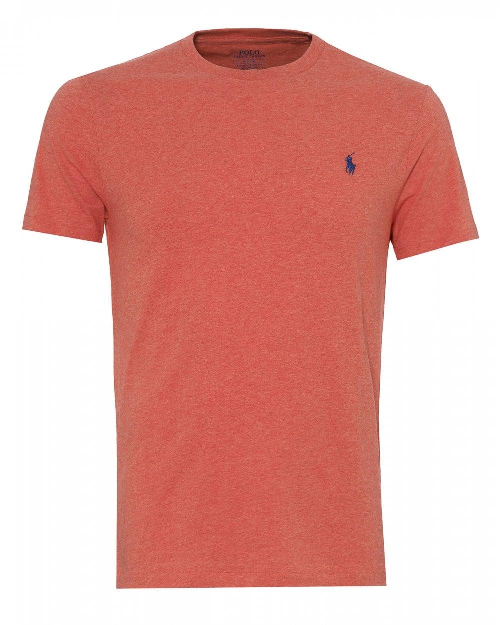 Ralph Lauren Mens Slim Fit T-Shirt, Highland Rose Pink Heather Tee 9a914a683fc2