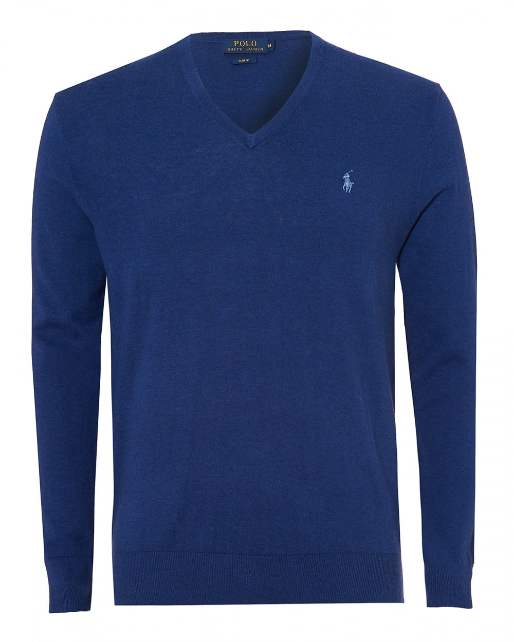 2cb71866238 Mens V Neck Jumper, Cotton Cashmere Blue Sweater