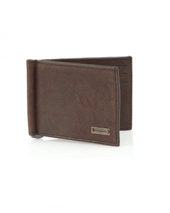 'Ramata' Chocolate Brown Card Clip Wallet