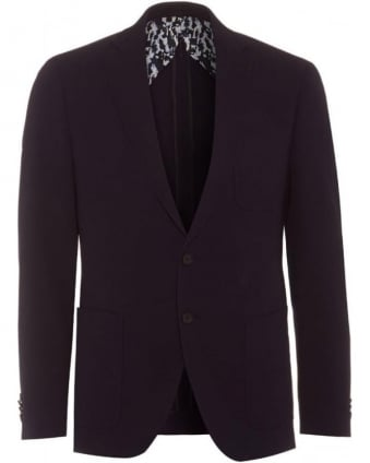 Raye4 Mens Blazer Extra Slim Wool Dark Blue Jacket