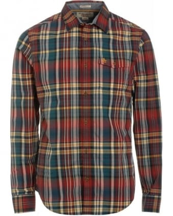 Red Dhalia Plaid Heritage Slim Fit Shirt
