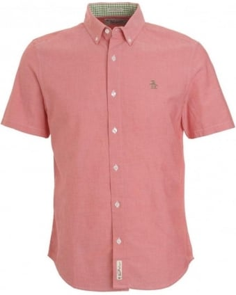 Red Oxford Short Sleeve Shirt