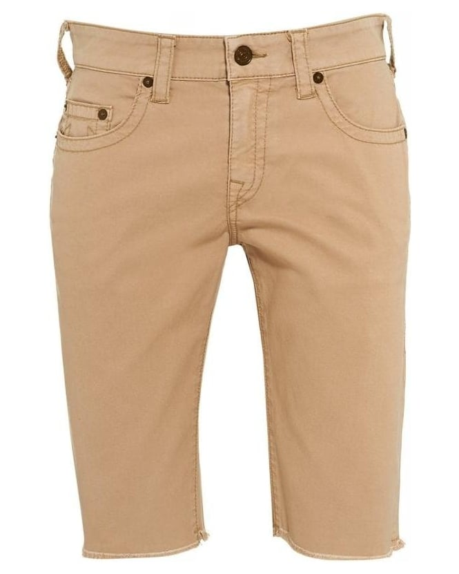 True Religion Jeans Regular Fit 'Ricky' Beige Shorts