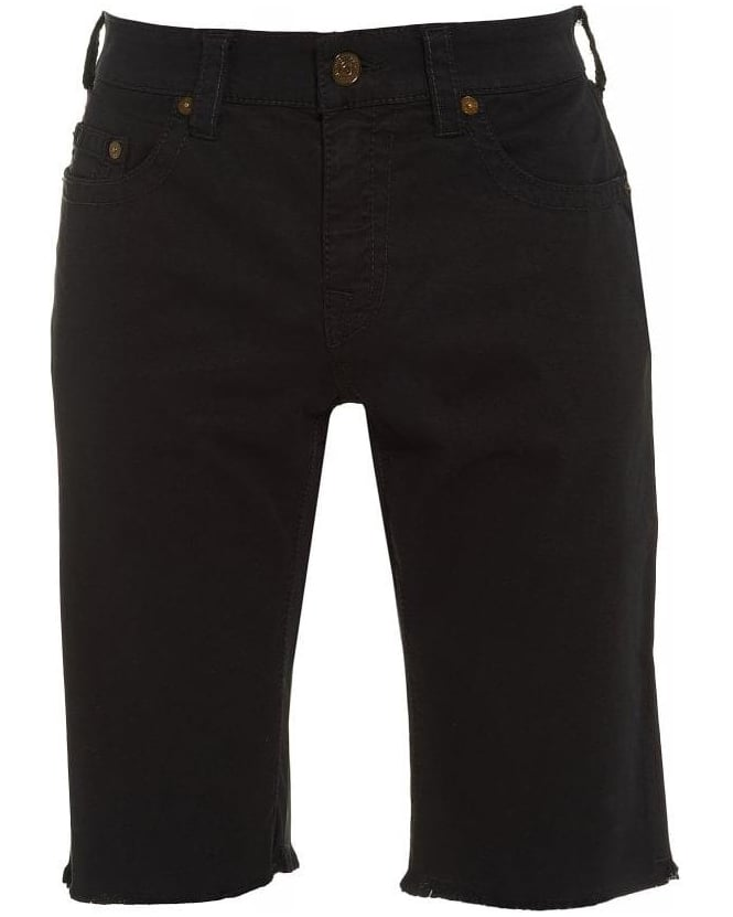 True Religion Jeans Regular Fit 'Ricky' Black Shorts