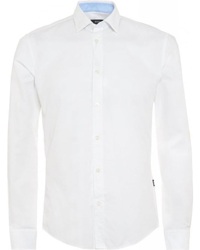 Hugo Boss Black Ronni 2 White Slim Fit Shirt