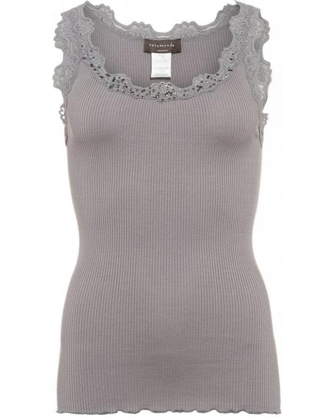 Rosemunde Soft Grey Babette Vest Sequin Top