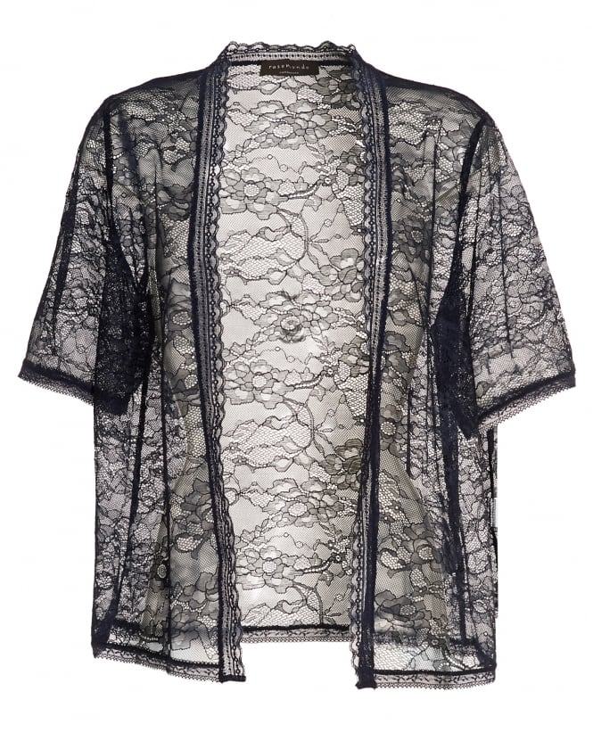 rosemunde womens becka navy blue lace cardigan