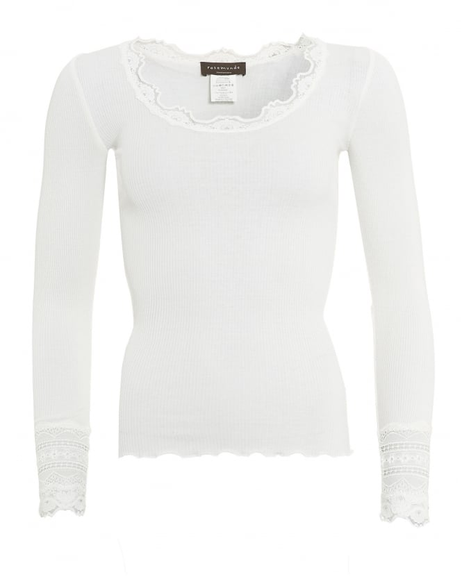 Rosemunde Womens Benita T-Shirt, Scoop Neck New White Top