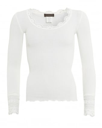 Womens Benita T-Shirt, Scoop Neck New White Top