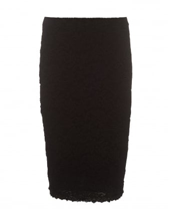 Womens Delicia Black Lace Double Layer Pencil Skirt