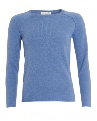 Womens Laica Blue Stone Cashmere Blend Jumper