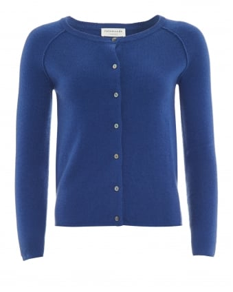 Womens Laica Cardigan, Cornflower Blue Cashmere Blend