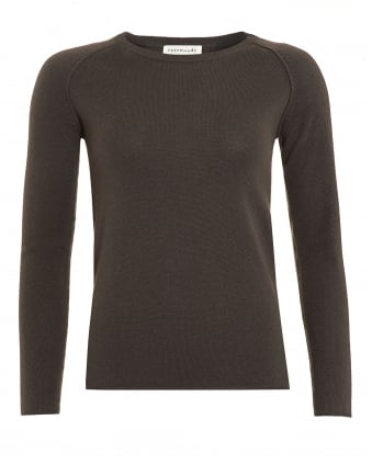 Womens Laica Jumper, Olive Green Cashmere Blend Jumper