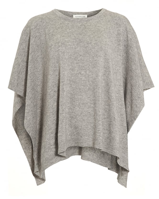 Rosemunde Womens Laica Poncho, Grey Cashmere Blend Jumper
