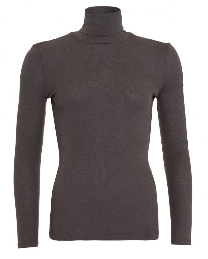 Rosemunde Womens Soft Wool Mix Dark Grey Roll Turtle Neck Top