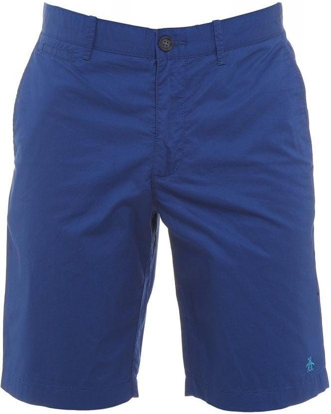 Original Penguin Royal Blue Basic Slim Fit Chino Shorts