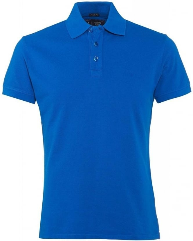 Armani Jeans Royal Blue Polo Shirt, Muscle Fit Polo