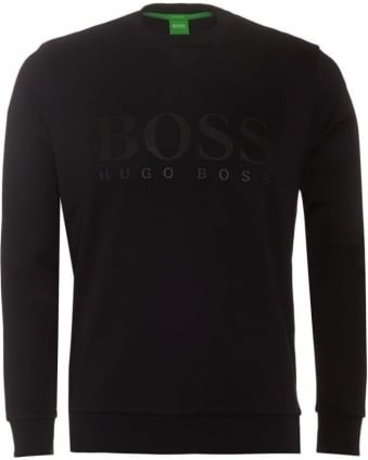 Salbo Mens Sweatshirt Large Logo Black Jumper
