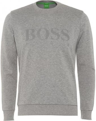Salbo Mens Sweatshirt Large Logo Light Grey Jumper