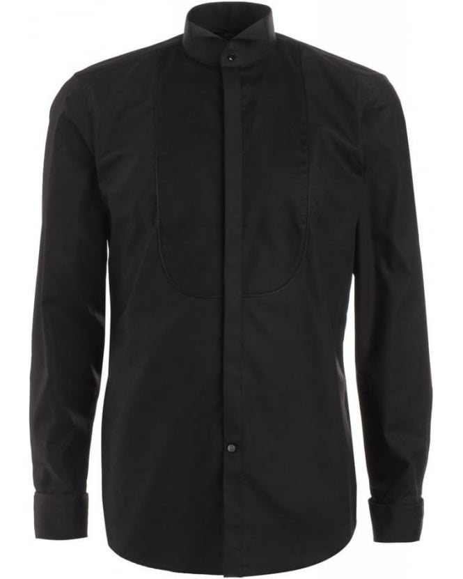 Hugo Boss Black Shirt, Black Slim Fit 'Julien' Easy-Iron Dinner Shirt