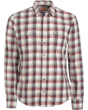 Shirt, 'Edaslime' Red and Black Checked Shirt