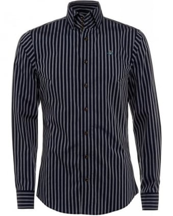 Shirt Krall Blue Striped Stretch Shirt