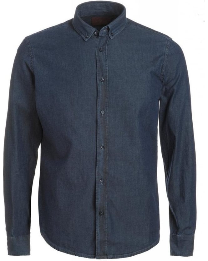 For All Mankind Shirt, Light Denim Chambray Slim Fit Shirt