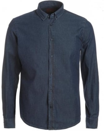 Shirt, Light Denim Chambray Slim Fit Shirt