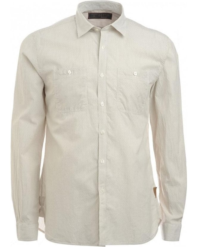 Barbour Shirt, 'Longmoor' Beige, Dept B Shirt