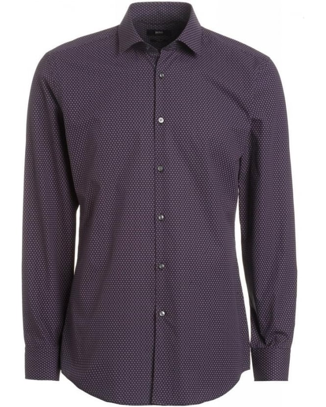 Hugo Boss Black Shirt, Purple Jenno Flower Print Slim Fit Shirt
