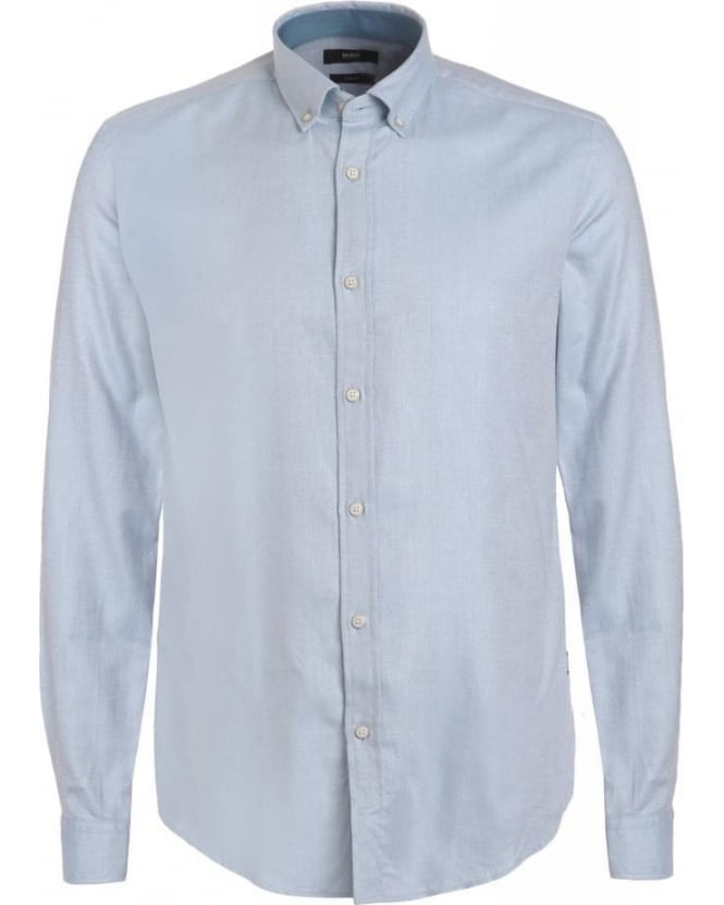 Hugo Boss Black Shirt, Sky Blue Herringbone Slim Fit Shirt
