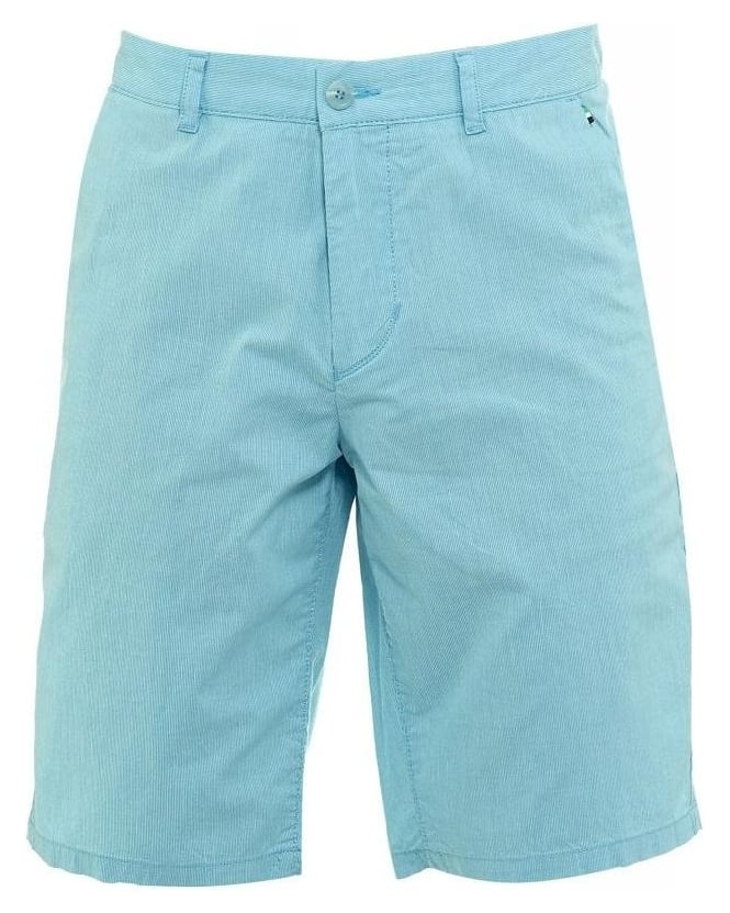 Hugo Boss Green Shorts, Aqua Fine Stripe Slim Fit 'Lomeo-W' Shorts