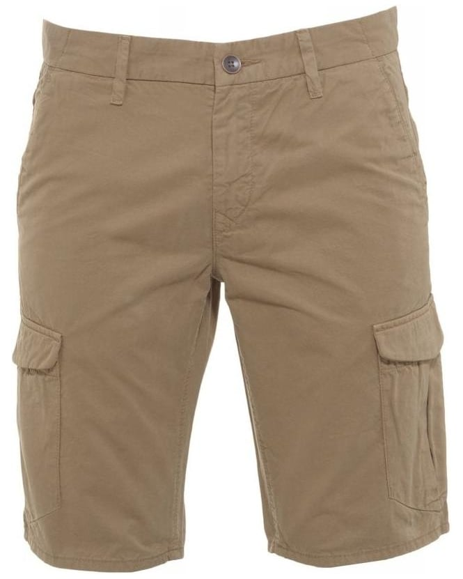Hugo Boss Orange Shorts, Beige Regular Fit 'Schwinn 3 Shorts-D' Cargo Shorts
