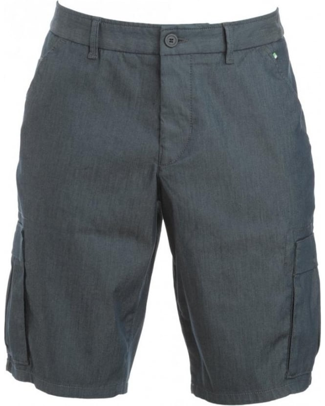 Hugo Boss Green Shorts, Navy Blue Regular Fit Cargo Shorts