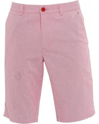 Shorts, Pink Fine Stripe Slim Fit 'Lomeo-W' Shorts