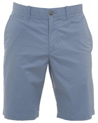 Sky Blue Basic Slim Fit Chino Shorts