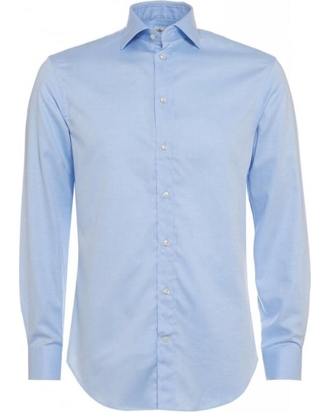 Armani Collezioni Sky Blue Plain Business Shirt