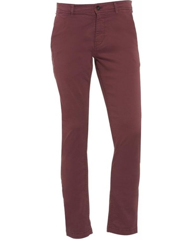 Hugo Boss Orange Slim Fit Chinos Pink 'Schino-Slim1-D' Trousers