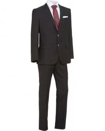 Slim Fit New Wool Suit Hutson2 Gander Dark Grey Suit