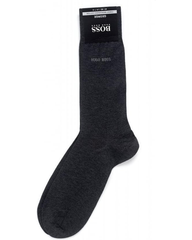 Hugo Boss Black Socks, Charcoal Mercerised Cotton 'George RS Uni' Socks