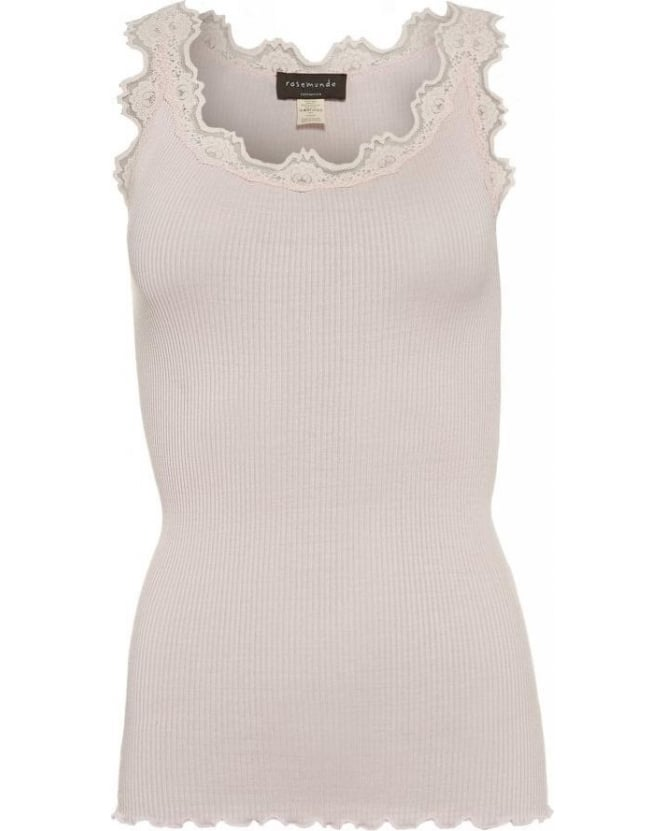 Rosemunde Soft Rose Pink 'Babette' Ribbed Vest Top