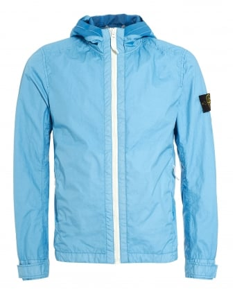 Mens Blue Cielo Sky Triple Layer Hooded Jacket