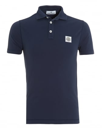 Mens Blue Marine Slim Fit Polo Shirt