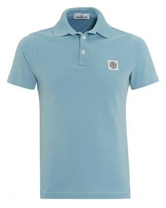 Mens Cielo Sky Blue Slim Fit Polo Shirt