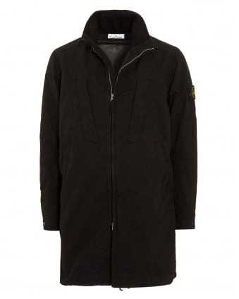 Mens Coat, David-TC Black Parka Jacket