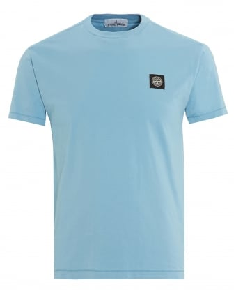 Mens Compass Logo T-Shirt, Regular Fit Cielo Sky Blue Tee