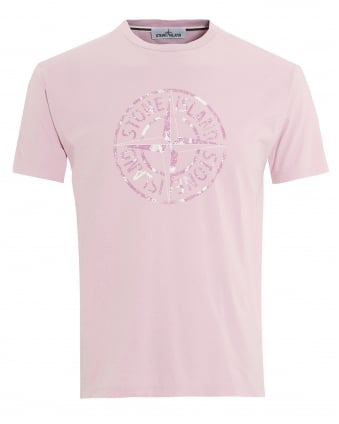 Mens Compass Logo T-Shirt, Regular Fit Rosa Quarzo Pink Tee